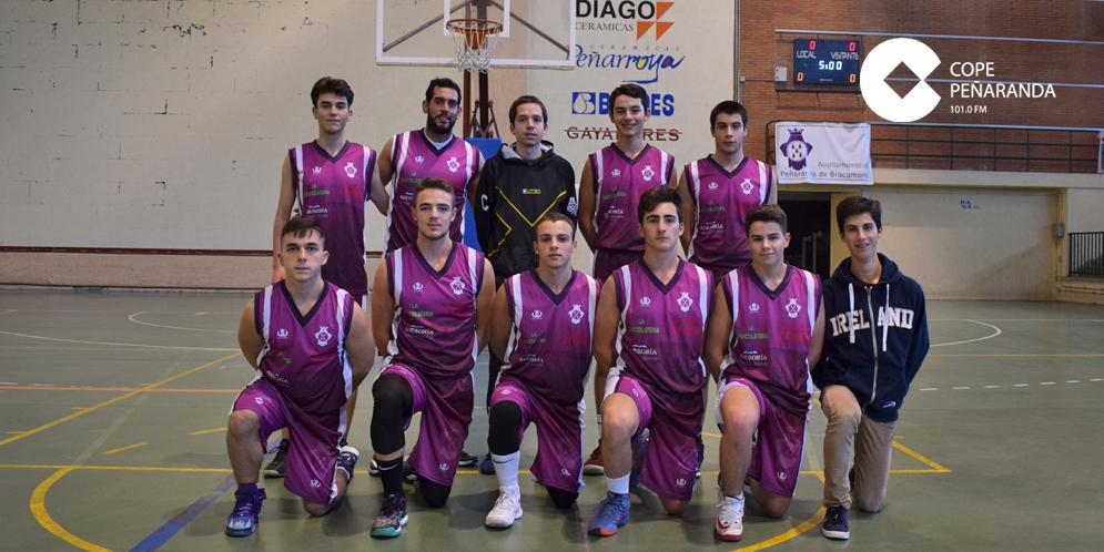 Jugadores del equipo del Ayuntamiento de Peñaranda en el Trofeo Diputación.