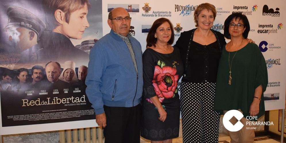 Assumpta Serna junto a Carmen Ávila, Joaquín Fuenes y Araceli Rodríguez.