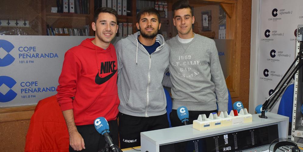Mario Rodríguez, Fran Herrera y Jaime García, en la tertulia deportiva de COPE Peñaranda.