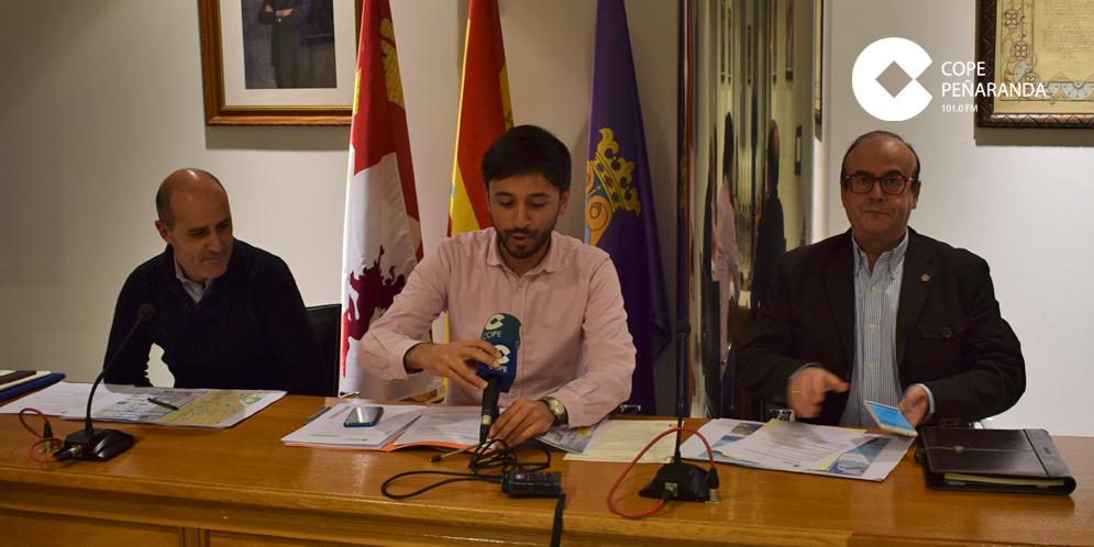Carlos Carrera, Francisco Diaz y Miguel Hermoso durante la rueda de prensa.