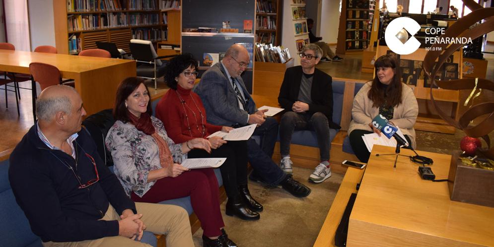 José Sánchez, Carmen Ávila, Araceli Rodríguez, Miguel Nuñez, Carlos Vicente y María Ángeles Redondo, durante la presentación de la programación cultural.