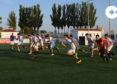 Jugadores del juvenil del CD Peñaranda durante uno de los entrenamientos.