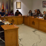 Los concejales del Ayuntamiento de Peñaranda durante la reunión plenaria.