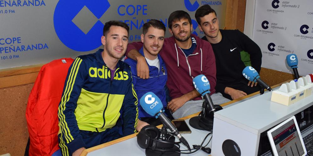 Martio, Jorge, Fran y Jaime en la tertulia deportiva.