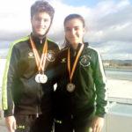 Miguel Delgado y Alejandra Redondo, se proclamaron subcampeones de Castilla y León en pista cubierta.