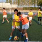 Jugadores del CD Peñaranda durante uno de sus entrenamientos.
