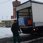 Un camión provisional esta misma mañana de sal al Ayuntamiento de Peñaranda.