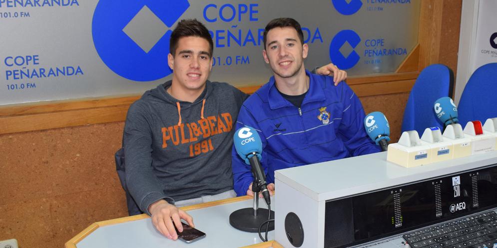 Juancar y Mario en la tertulia deportiva de COPE Peñaranda.