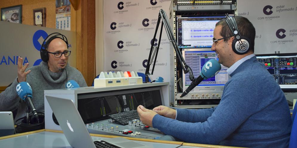 Ángel García Gutiérrez, durante la entrevista en COPE Peñaranda.