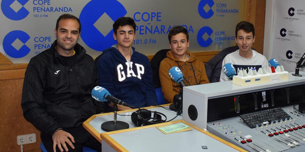 Ivan, Alonso, Simón y Alberto, del equipo cadete del CD Peñaranda.