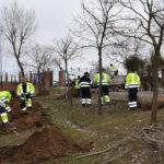 Operarios municipales trabajando en el parque de cultural y naturaleza El Inestal.