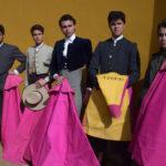 Los seis primeros novilleros participantes en el IX Bolsin taurino.