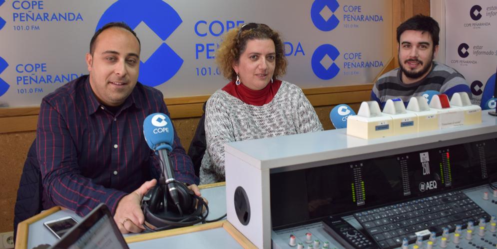 Raul Blázquez, Sonsoles Fiallegas y Sergio Jiménez, en  «La mesa de trabajo».