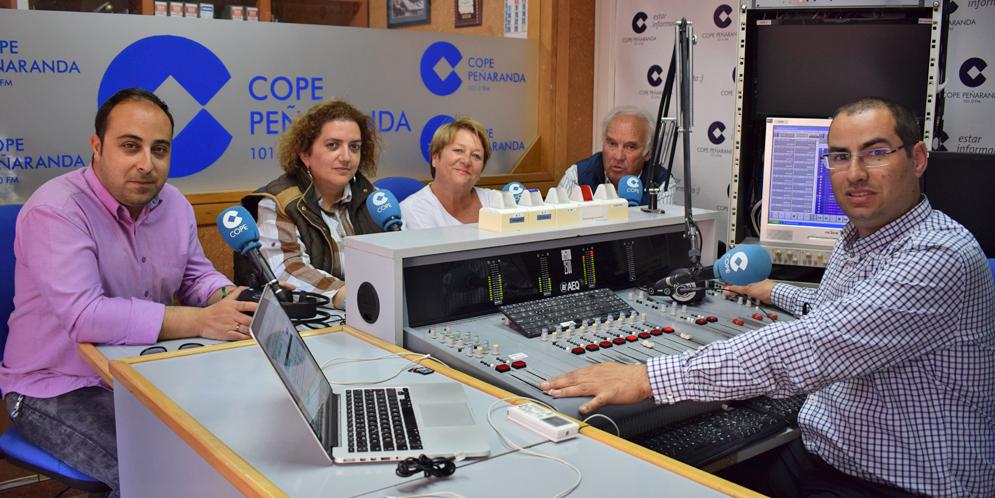 Raúl, Sonsoles, Paqui y Marino en «La mesa de trabajo» de Paqui Diaz.