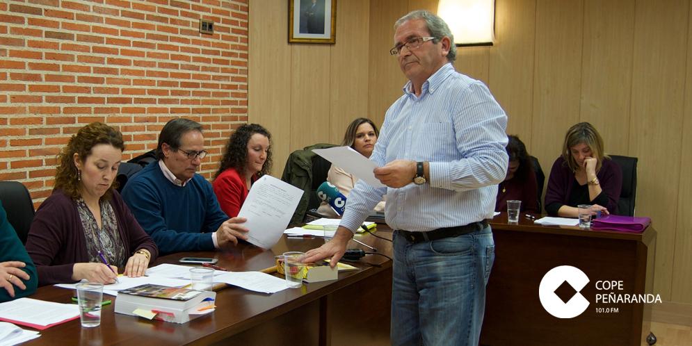 Francisco Blázquez en la toma de posesión como alcalde tras la moción de censura contra el PP.