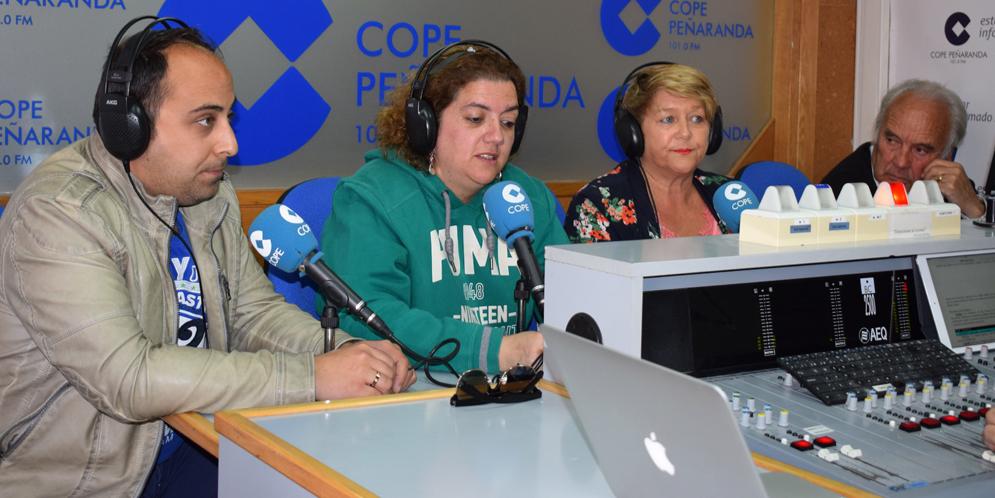Raul, Sonsoles, Paqui y Marino en «La mesa de trabajo» de COPE Peñaranda.