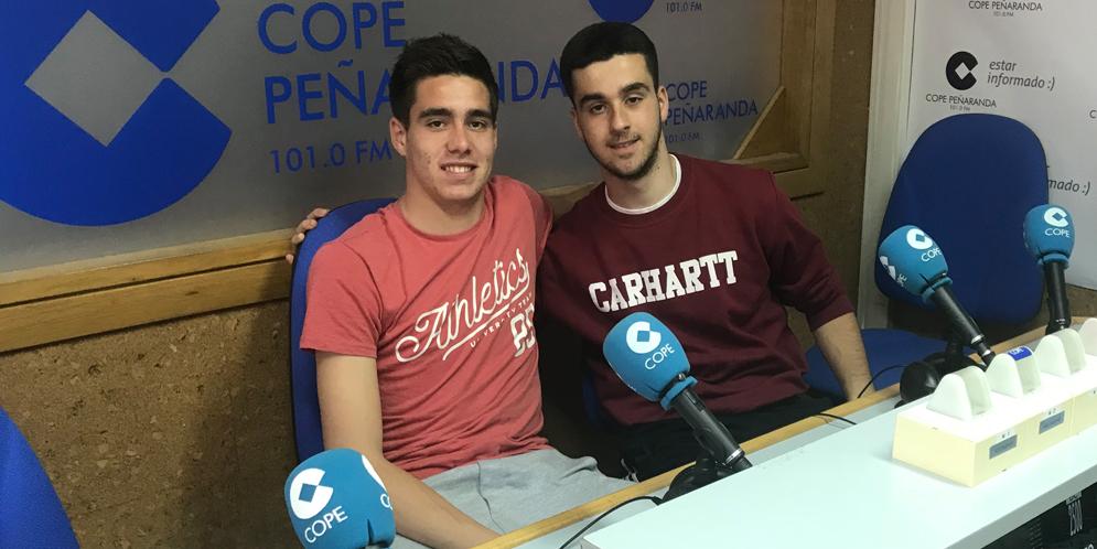 Juancar y Jaime en la tertulia deportiva de COPE Peñaranda.