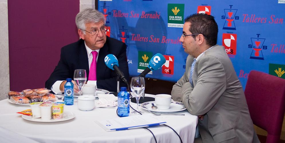 Antonio Basanta participó en 2010 en los Desayunos informativos de COPE.