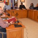 Un momento del pleno municipal celebrado en el Ayuntamiento de Peñaranda.