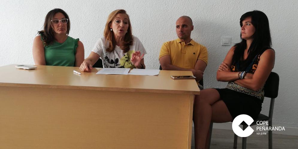 Los concejales del PP en la rueda de prensa en la que realizaron balance de los tres años del PSOE.