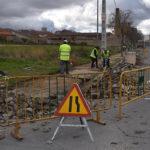El Ayuntamiento de Peñaranda ha iniciado las obras del acerado en la Ronda de San Lázaro.