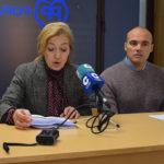 Carmen Familiar y David Sánchez durante la rueda de prensa.