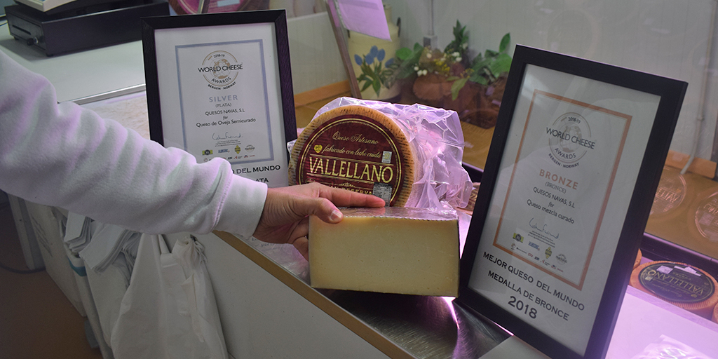Quesos Vallellano ha sido premiado en los World Cheese Awards.