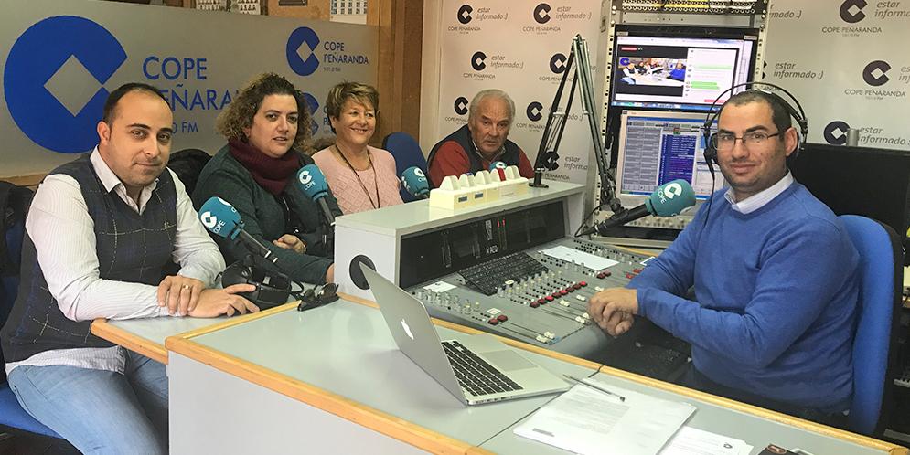 Raúl, Sonsoles, Paqui y Marino en «La mesa de trabajo» de COPE.