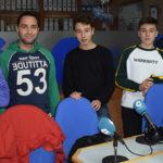 Alberto, Unai y Diego, jugadores del equipo cadete del CD Peñaranda junto al cuerpo técnico.