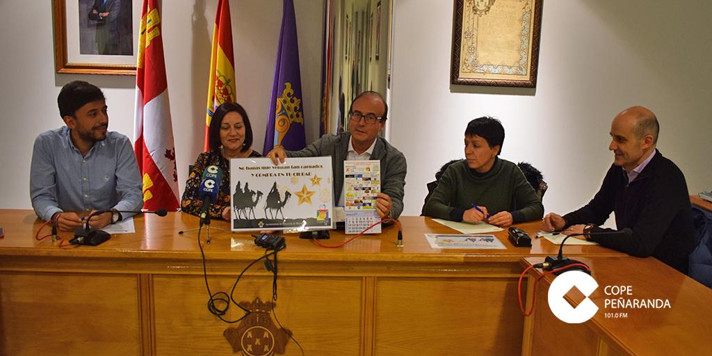 Ayuntamiento y Coaspe presentaron la campaña de Navidad del comercio peñarandina.