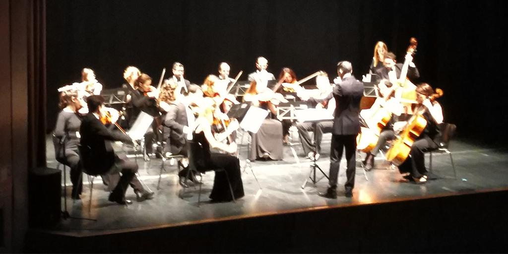 La orquesta Klassic Nova durante la actuación del concierto de Año nuevo 2018.