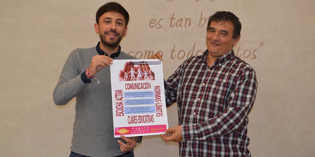 Francisco Diaz, concejal de Juventud, junto a Nandy Pérez, técnico municipal de Juventud.