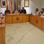 Un momento del pleno del Ayuntamiento de Peñaranda.