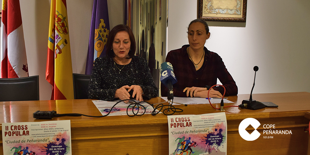 Carmen Ávila y Pilar García, presentaron la II Cross popular Ciudad de Peñaranda.