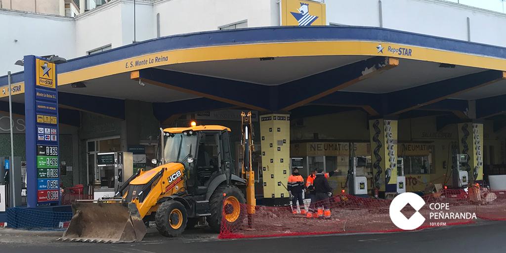 La estación de servicio Monte La Reina ha iniciado recientemente obras de mejora.