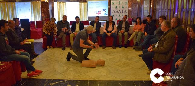 Asaja organizó hoy una jornada sobre prevención de riesgos laborales.