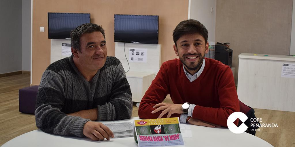 Nandi Pérez y Francisco Diaz durante la presentación del programa «Semana Santa 'de miedo'»
