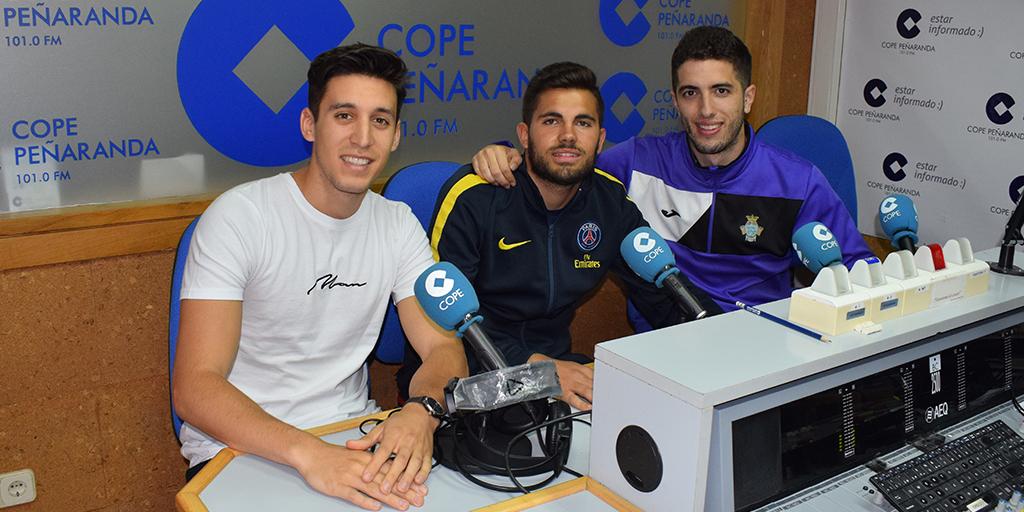 Agus, Fran y Salva, jugadores del CDPeñaranda en COPE.