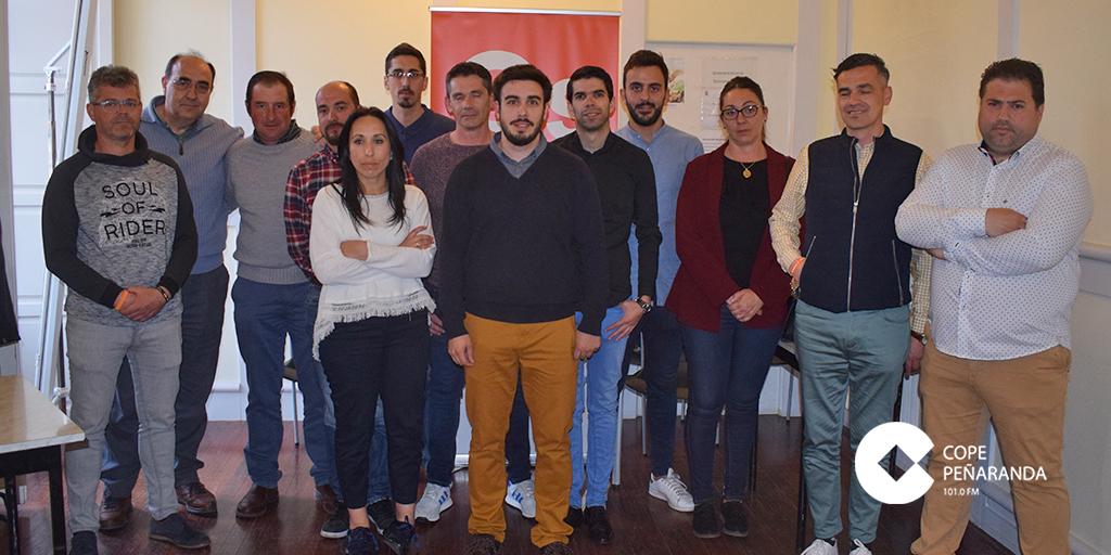 Miembros de la candidatura de Ciudadanos junto a los representantes provinciales.