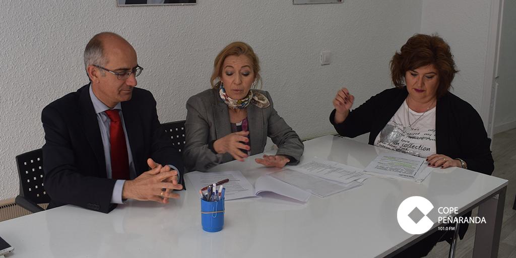 Javier Iglesias mantuvo una reunión de trabajo con la candidata al Ayuntamiento de Peñaranda.