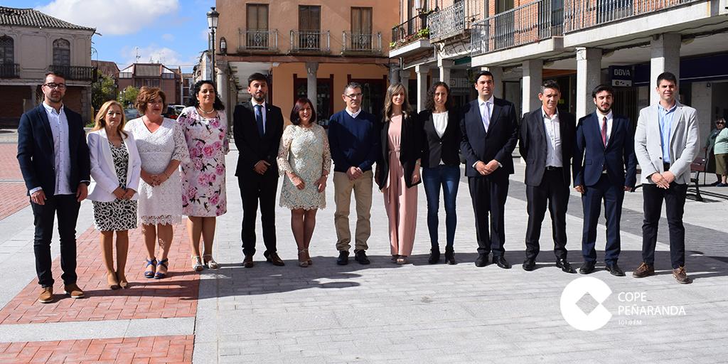 La nueva corporación municipal del Ayuntamiento de Peñaranda.