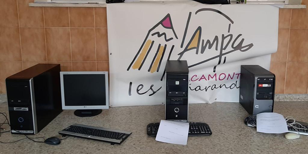 El AMPA del Instituto recupera ordenadores cedidos para su uso por los alumnos