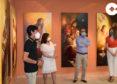 Abierta la exposición con todos los cuadros del nuevo programa iconográfico de la parroquia