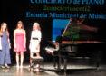 Tres alumnas de la Escuela de música ofrecen un concierto de piano en el CDS