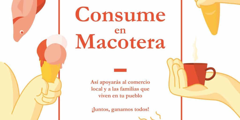 Macotera sorteará tres cestas de productos locales para promocionar el comercio de cercanía