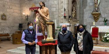 La restaurada imagen del Fragelado enriquece a la iglesia parroquial