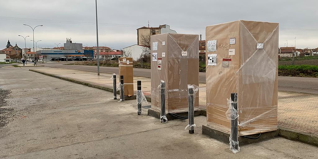 Iberdrola comienza la instalaciones de dos puntos de recarga rápida