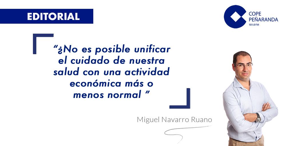 «No amaina el temporal» por Miguel Navarro