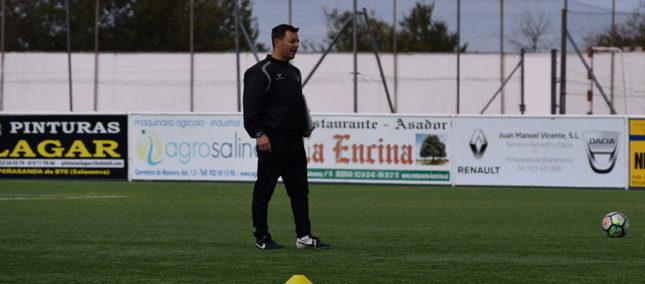 José Manuel Bárez durante un entrenamiento