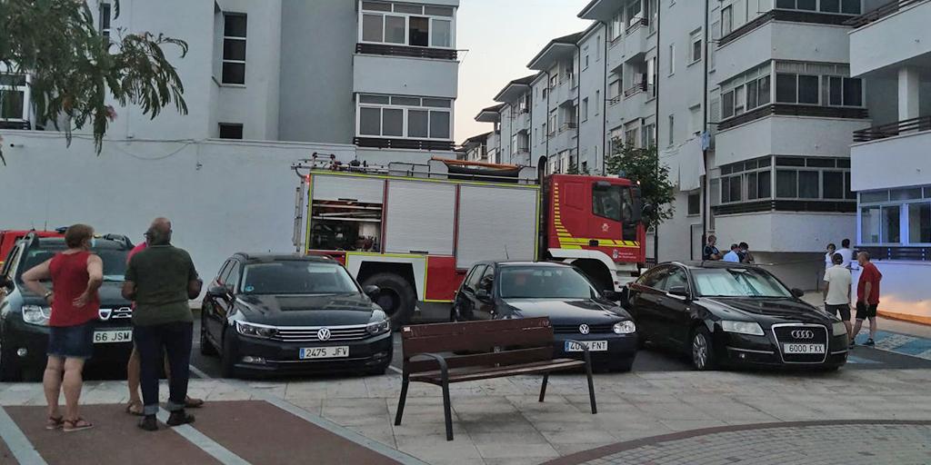 Los bomberos sofocaron el humo de una caldera